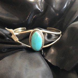 Jewelry - Turquoise and Silver Bracelet- Southwestern Style